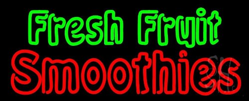 """Fresh Fruit Smoothies Neon Sign 13"""" Tall X 32"""" Wide X 3"""" Deep front-605974"""
