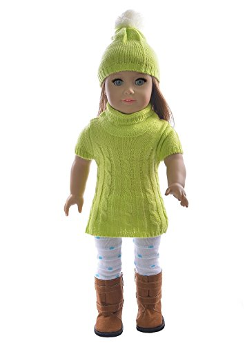 Ebuddy Package 3pc Include Hat Sweater Leggings Fits 18 Inch Girl Dolls