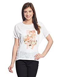 Madame Women's Body Blouse Top (M1421008_Off-White_Large)