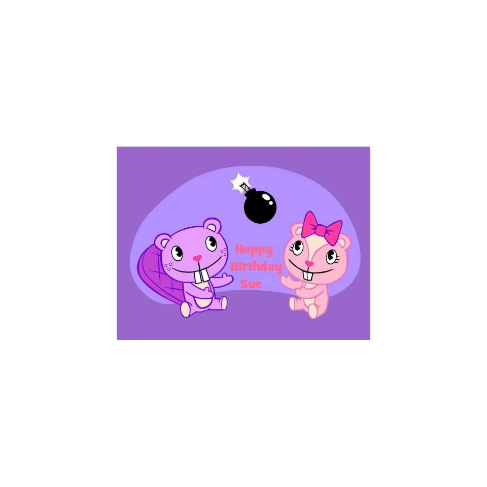 Happy Tree Friends Edible Cake Image Topper