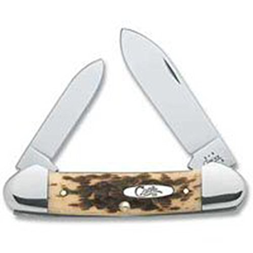 Case Knives Amber Bone Canoe Pocket Knife
