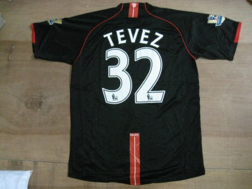 08-09 MANCHESTER UNITED AWAY JERSEY TEVEZ + FREE SHORT (SIZE XL)
