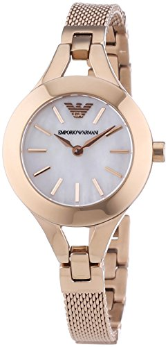 Emporio Armani  AR7329 - Reloj de cuarzo para mujer, con correa de acero inoxidable, color oro rosa