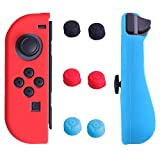 HDE Silicone Joy-Con Cover for Nintendo Switch with Thumb Grip Caps Anti-Slip Protective Skin Non-Adhesive Comfort Grip Controller Case (Red Blue)