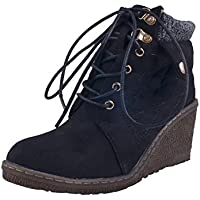 Adorn Women Latest Fashion Black Casual Laced Boots