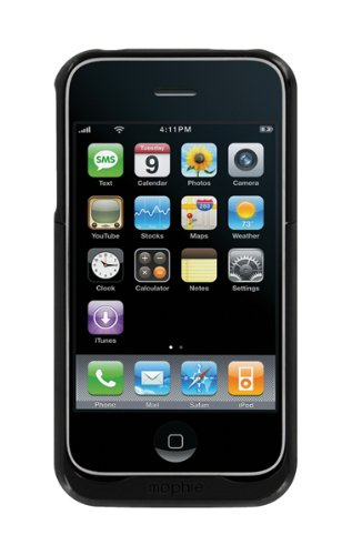 Mophie Juice Pack Air Case and Rechargeable Battery for iPhone 3G, 3GS (Black)