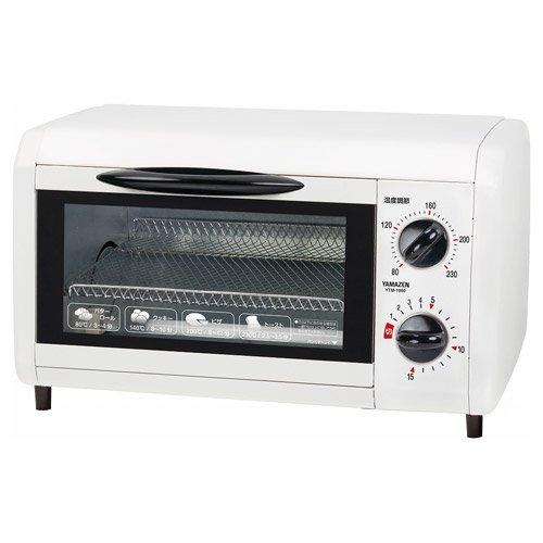 山善(YAMAZEN) オーブントースター1000W(温度調節付) ホワイト YTM-1000(W)