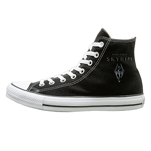 GOLIP X-max Gift The Elder Scrolls V Skyrim Vintage High Top Sneakers Canvas Shoes 36 (Remix Vintage Shoes compare prices)