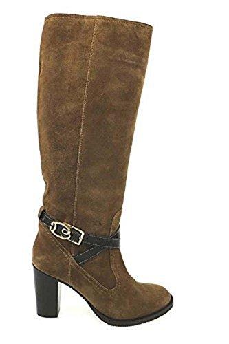 Scarpe donna BRACCIALINI 36 stivali marrone camoscio AN30-D
