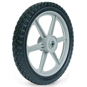 Martin Wheel PLSP14D175 14 by 1.75-Inch Plastic Spoke Semi-Pneumatic Wheel for Lawn Mower, 1/2-Inch Ball Bearing, 2-3/8-Inch Centered Hub, Diamond Tread by Martin Wheel Company-LG