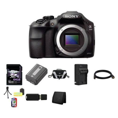 Sony-A3000-ILCE-3000-ILCE-3000B-20-1MP-Interchangeable-Lens-Camera-Black-Body-64GB-Package-4