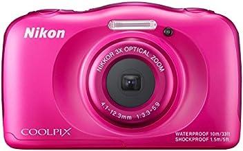 """Nikon Coolpix S33 Appareil photo numérique compact 13,2 Mpix Écran LCD 2,7"""" Zoom optique 3X Rose"""