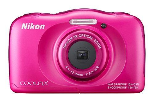 Nikon Coolpix S33 Digitalkamera (13,2 Megapixel, 3-fach opt. Zoom, 6,9 cm (2,7 Zoll) LCD-Display, USB 2.0, bildstabilisiert) pink thumbnail