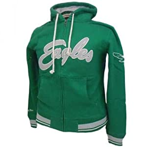 NFL Philadelphia Eagles Hoody Hoodie Green Throwback Mitchell & Ness 4XL 4X LG by Mitchell & Ness