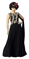 Kaizen Export Black Georgette Stylish Gown