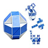 Rubik's Snake 24/36/48/60/72/96/108/120 Wedges Rubik's Twist Puzzle Educational Toy Rubiks Snake Rubiks Cube Puzzle Snake Brain Teaser Puzzle Toys (48Wedges)