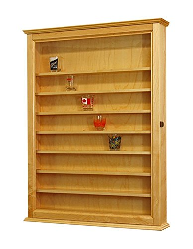 72 Shot Glass Display Cabinet- Maple (Shot Glass Display Case 72 compare prices)