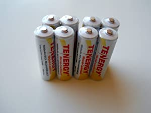 Tenergy 8 Pack AA NiCd 1000 mAh 1.2 V Rechargeable Batteries by Tenergy