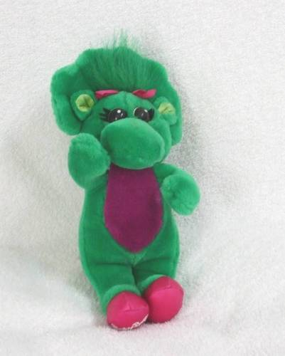 Vintage 1992 lyons group barney amp friends baby bop dinosaur plush doll