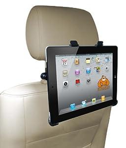 """iPad 3 + 4 KFZ Kopfstützenhalterung Auto Halterung für """"Das neue iPad"""" + iPad 4"""