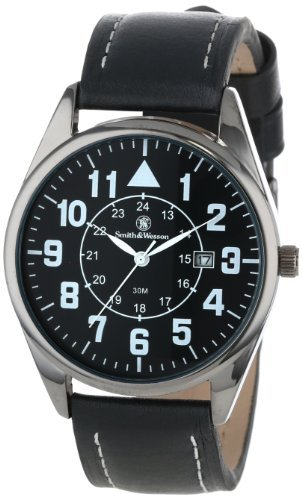 smith-wesson-mens-sww-6063-the-civilian-black-leather-strap-watch