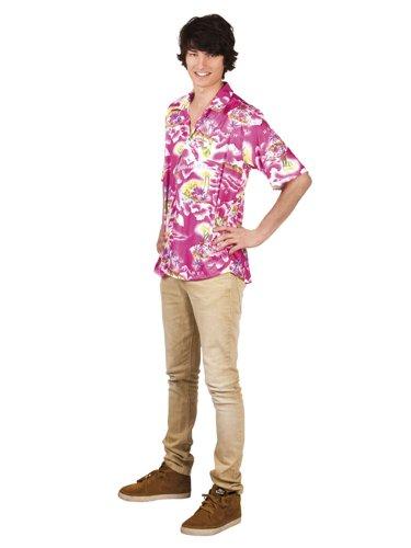 Rosa Hawaii-Hemd für Erwachsene - Einheitsgröße
