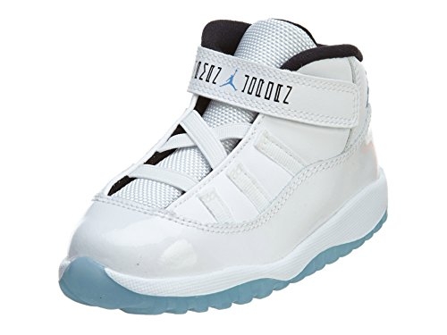 Nike Jordan Toddlers Jordan 11 Retro Bt White/Legend Blue/Black Basketball Shoe 9 Infants US