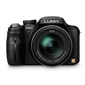 Panasonic Lumix DMC-FZ47 Point & Shoot Camera with 12.1MP, 24x Optical Zoom and 3 inch Screen (Black)