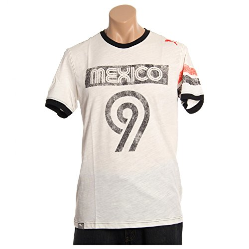 PUMA Men's Pitch Tee Mexico, Marshmallow, Large