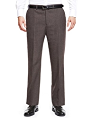 Supercrease® Flat Front Trousers with Wool
