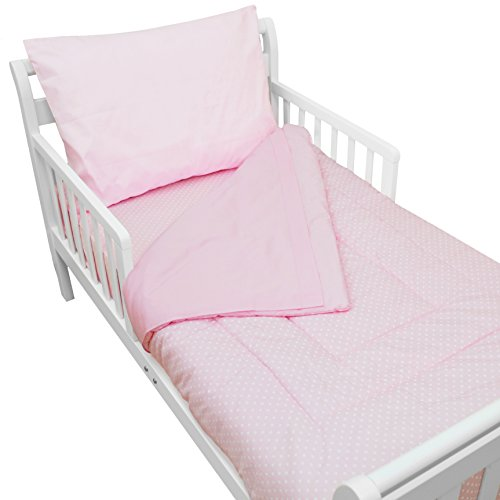 American Baby Company 1440PK Percale Toddler Bed Set, 4-Piece (Pink)