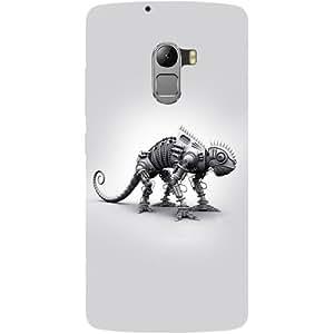 Casotec Metal Dinosaur Design Hard Back Case Cover for Lenovo K4 Note