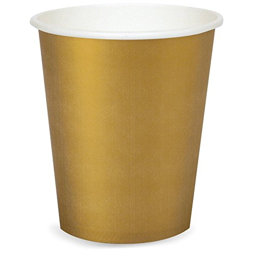 Glittering Gold (Gold) 9 oz. Cups (24) - 1