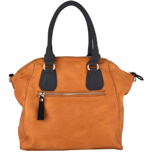 Padlock Top Double Handle Office Tote Shopper Hobo Satchel Purse Handbag Shoulder Bag