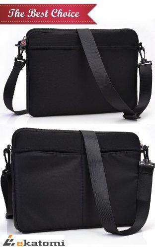 Apple Macbook Air Md760Ll/A Laptop Case | Universal Messenger Bag - Black [Scoop]. Bonus Ekatomi Screen Cleaner front-1055841