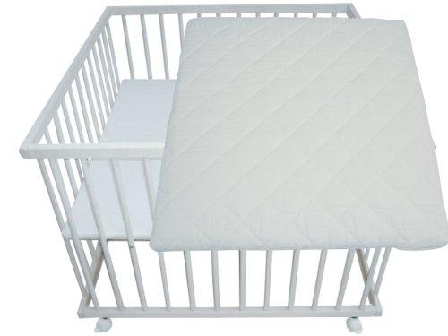 besten matratzen laufgitter wei lasiert 100 100 buche. Black Bedroom Furniture Sets. Home Design Ideas