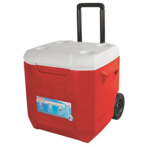 Coleman Wheeled Cooler, Red, 45 quart (Coleman 45 Can Cooler compare prices)