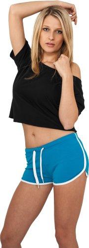 Urban Classics -  Pantaloncini sportivi  - Uomo turquoise-blanc 44