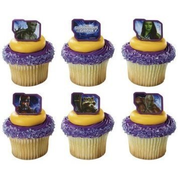 Guardians of the Galaxy Unite Marvel cupcake Rings - 24 pcs - 1