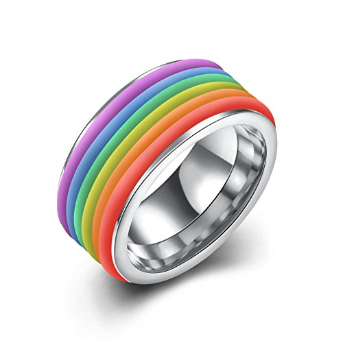 men-womens-classic-titanium-steel-rainbow-striped-ring-wedding-bands-colorful-silver-1cm-widthsize-6