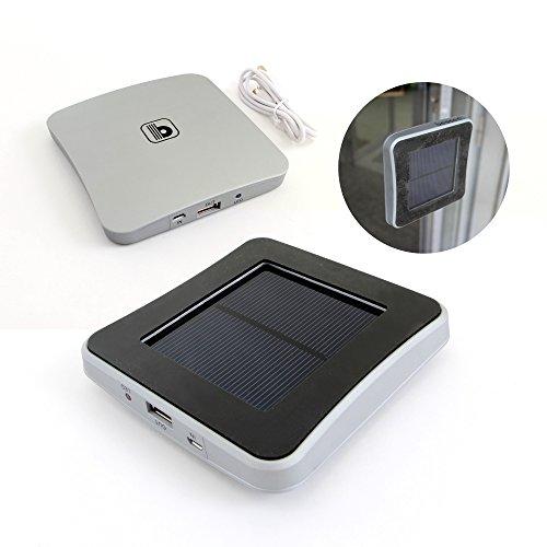 bessed(ビセッド) ピタッとソーラー充電器 BEC-02SL [モバイル バッテリー容量5000mAh 太陽光 USB充電可能 過放電、過充電防止装置採用 スマホ、タブレット、デジカメの充電に]