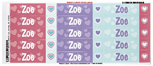 Mabel'S Labels 40845198 Peel And Stick Personalized Labels With The Name Zoe And Heart Icon, 45-Count front-836048