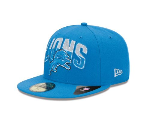 NFL Detroit Lions 2013 Draft 59FIFTY Fitted Cap Blue, 7 3/4 at Amazon.com