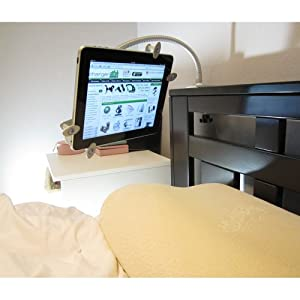 ChargerCity Apple ipad Mini/ ipad 2 / ipad 3 / ipad 4 / ipad Air Nexus 7 10 Aluminum Bed Frame Clamp Lock Mount with 22 inch Easy-Adjustable Gooseneck Arm.