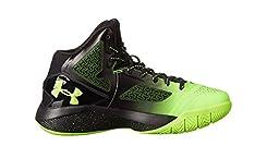 Boy\'s Under Armour ClutchFit Drive 2 Basketball Shoes Black/Green Size 5 M US