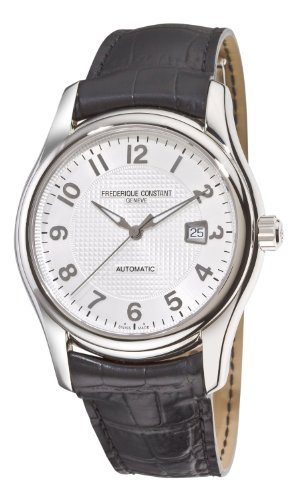 Frederique Constant Men's FC-303RM6B6 Runabout Automatic Silver Dial Black Strap Watch