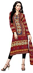 Justkartit Women' (& Girls) Ethnic Print Digital Printed Pakistani Malai Lawn daily wear Kurti / karachi fabric kurti (With Scarf Piece Attached)