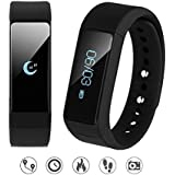 007plus T5 Plus Fitness Tracker Health Sleep Monitor Pedometer Wristband (Black)