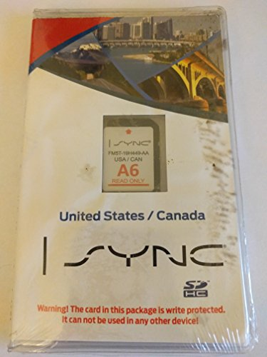 Ford Lincoln Sync U.s. and Canada Navigation System A6 Maps Sd Card for Escape, Flex, Focus, Fusion, Taurus, Edge, Explorer, F150, Mks, Mkt, and Mkx Fm5t-19h449-aa Us/can (Ford Escape Navigation Sd Card compare prices)