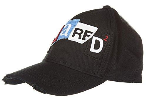 Dsquared2 cappello berretto regolabile uomo in cotone originale nero EU UNI W16BC400605C2124